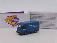 """Brekina 14631 # Saviem SG2  Baujahr 1965 blau """" MAN Kundendienst """" 1:87 NEU"""