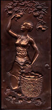 VINTAGE Soviet Russian Copper Wall Decor Plaque ''EVA""