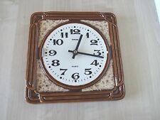 * CLEARANCE* Vintage 1970s German Retro Ceramic Kitchen Wall Clock Display Prop