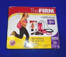 The Firm Cardio To Go Set Weighted Jump Rope 2 Medium Level Resistance Bands Bag