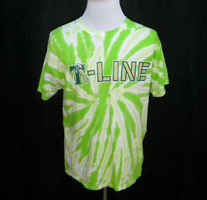 PORTLAND TIMBERS Mens (Size Large) Green Tie-Dye Short Sleeve T-Shirt Soccer Top