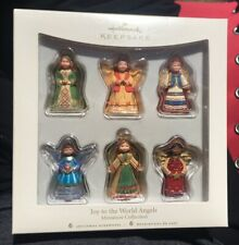 Hallmark Keepsake 6 Miniature Ornaments 2007 Joy To The World Children