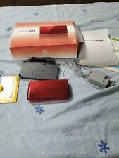 Nintendo 3DS Flame Red  Original Packaging + Case charger 2gb sd card used