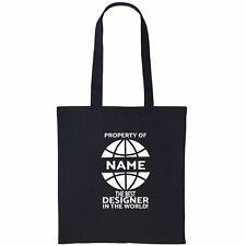 Designer Personalised Tote Bag Gift Birthday Christmas Add Name