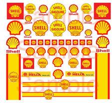 1/64 SHELL WATER-SLIDE DECALS FOR HOT WHEELS, MATCHBOX, SLOT CAR: