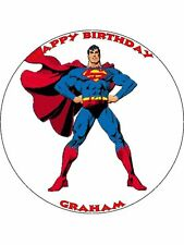 "Superman 7.5 ""papel de arroz Birthday Cake Topper"