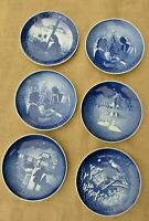 1970s and 1983 Copenhagen Bing & Grondahl Christmas Collector Plates