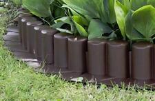 Plastic Garden Fence Panels Boarder Lawn Palisade Edge Patio Fencing BROWN AL6