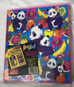 Lisa Frank Vintage Panda Fruit Tri Fold Binder Never Used All Orig Items