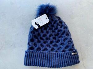 PING Ladies Classic Knit Beanie Oxford Blue - Sensor Warm