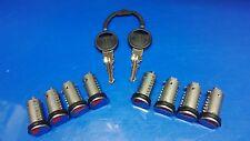 Caravan & Motorhome Zadi Vecam Set of 8 Keyed Alike Lock Barrels