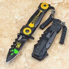 Spring Assisted Defender Xtreme SAW Tactical Pocket Folding Knife Sharp Blade yl