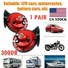 1 Pair 300Db Super Train Horn For Truck Car Boat Motorcycle 12V Electric Horn Us