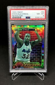 1993 Shaquille O'Neal Topps Finest Refractor PSA 8 #99 Orlando Magic