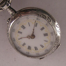 Lovely Serviced 120-Years-Old C.CRETTIEZ Pendant French Silver Pocket Watch Mint
