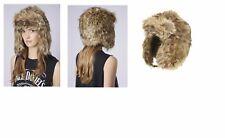 Topshop brown ushanka faux fur trapper ski winter Russian ear flap crossack hat