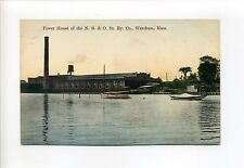 Cape Cod MA Mass Wareham Power House, New Bedford & Onset St Ry, trolley line