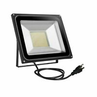 100W LED SMD Flood Light Warm White Outdoor Spotlight Landscape Lamp w/ US Plug
