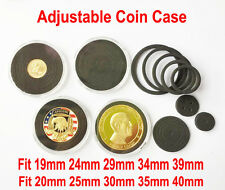 5x Capsules Holders Case Adjustable Black Ring for President Trump Coin 40mm