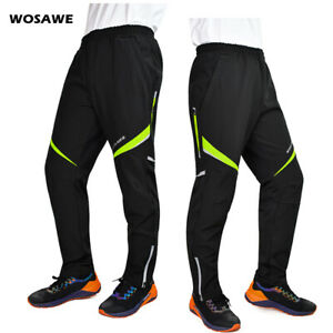 Men's Thermal Winter Cycling Water Resistant Pants Bicycle Windproof Trousers 04