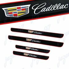 For Cadillac 4PCS Black Rubber Car Door Scuff Sill Cover Panel Step Protector
