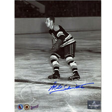 Milt Schmidt Boston Bruins Autographed Black & White Action 8X10 Photo