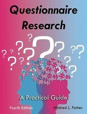 Questionnaire Research A Practical Guide Mildred Patten Paperback LikeNew 4th Ed