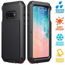 Samsung S10E Taktik Metal Case Cover Sceen Protector Glass Shockproof Waterproof