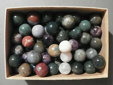 Marbles Agates Or Jaspers Natural Gemstones 4 of One Inch to 1 1/8 inch Vintage