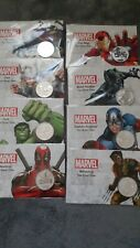 More details for  marvel  series 8 coin set all sealed on card, 1000 mintage.9999 solid silver ,