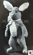 "Vintage 1930s-40s Knitting Pattern • BRER RABBIT • BUNNY • SOFT TOY • 13.5"" TALL"