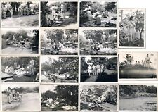 WWII India US Army Ordnance SOS Unit Troops Local Women Picnic Phonograph Photos