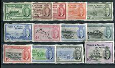 Turks & Caicos KGVI 1950 set of 13 SG221/33 MNH