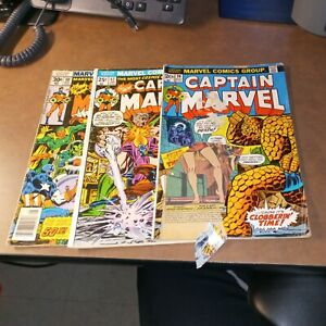 Captain Marvel 26 42 50 Bronze Age Superhero Comics Lot Run Set Collection