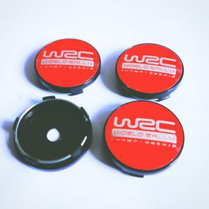"""For Citroen Subaru Peugeot 4pc 60mm 2.36"""" WRC Emblem Wheel Center Hub Cap"""