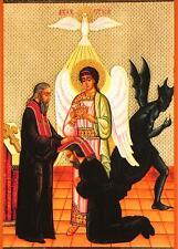 L'Église orthodoxe russe christianisme prêtre ANGE DEMON pénitence 7x5 pouces imprimer