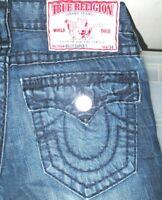 *HOT Men TRUE RELIGION @ BILLY SUPER T BOOTCUT DARK Jeans 31 x 33  (Fit 32 x 33)