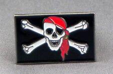 Metal Enamel Pin Badge Brooch Pirate Rebel Pirate Skull and Bones Jolly Roger