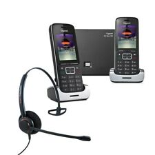 Gigaset SL450A GO Twin VoIP Cordless Phones with Corded Headset DECT Home Phone