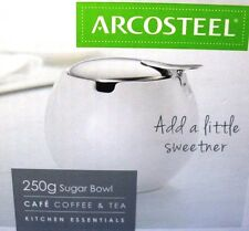 ARCOSTEEL Porcelain SUGAR BOWL Boxed Kitchen Essential COFFEE TEA KITCHEN