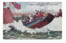 The Chute Boat, Imperial Services Exhibition, Earls Court 1913 Postcard 821P