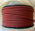 Black/Red 2-Wire Flat Cloth Covered Cord, 18ga, Vintage Style Lamps Nylon Fabric