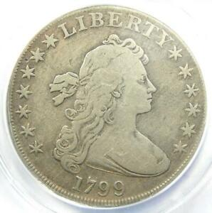 1799 Draped Bust Silver Dollar $1 Coin - Certified ANACS F12 Detail - Rare!