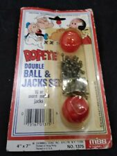 vintage Mss M Shimmel Sons Popeye Double Ball And Jacks Set new/sealed #1375