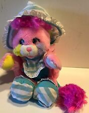Vintage Popples Bibsy Baby Pink Booties Bonnet Bib Rattle 80s plush toy