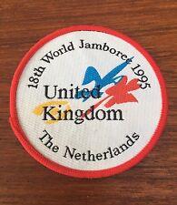 Vintage Girl Guides 18th World Jamboree Patch 1995 UK The Netherlands VGC