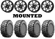 Kit 4 Maxxis Carnivore Tires 32x10-15 on ITP Tornado Matte Black Wheels WCT