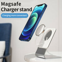 Magsafe For IPhone 12 Stand Aluminum Holder Magnetic Wireless Charger Base Desk