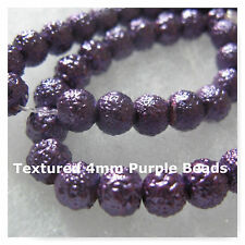 Glass Beads 4mm Textured Purple 52  Beads Jewelry Bumpy Round Spacer Beads