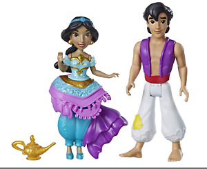 DISNEY PRINCESS ROYAL CLIPS ALADDIN & JASMINE DOLL FIGURES HASBRO